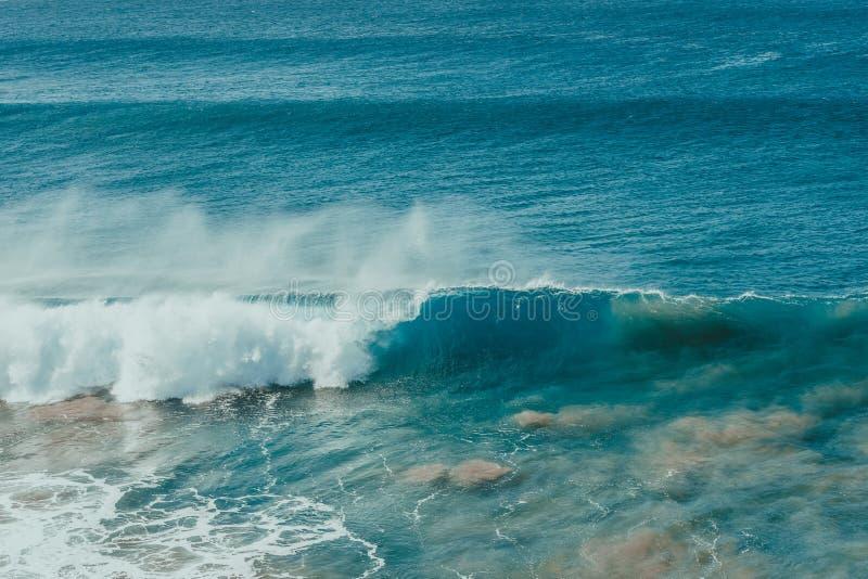 Cartel del océano Onda y arena fotos de archivo libres de regalías