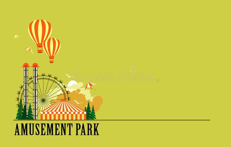 Cartel del parque de atracciones stock de ilustración