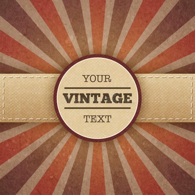 Cartel del promo del resplandor solar del vintage libre illustration