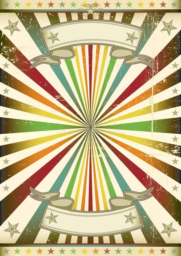 Cartel del rayo de sol de la vendimia stock de ilustración