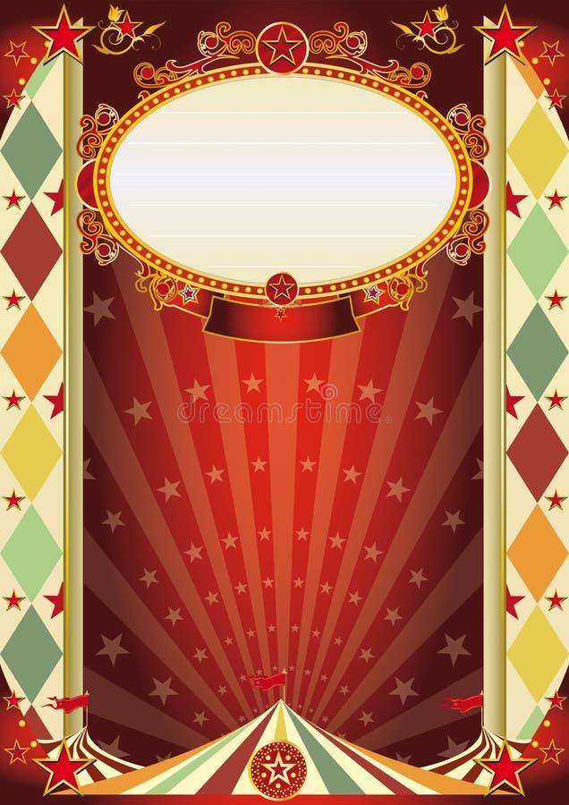 Cartel del Rhombus de la vendimia del circo stock de ilustración