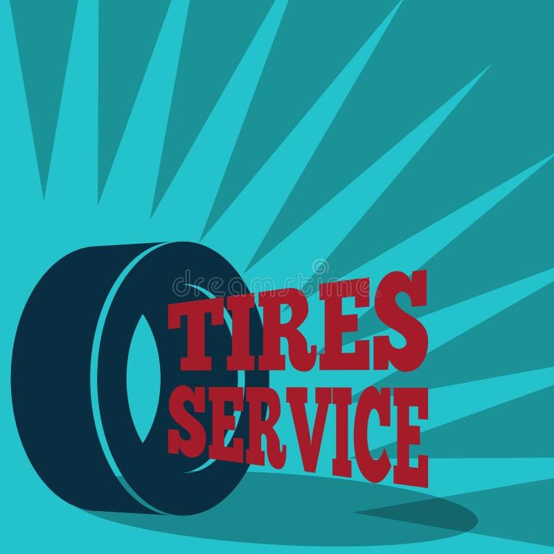 Cartel del servicio del neumático stock de ilustración