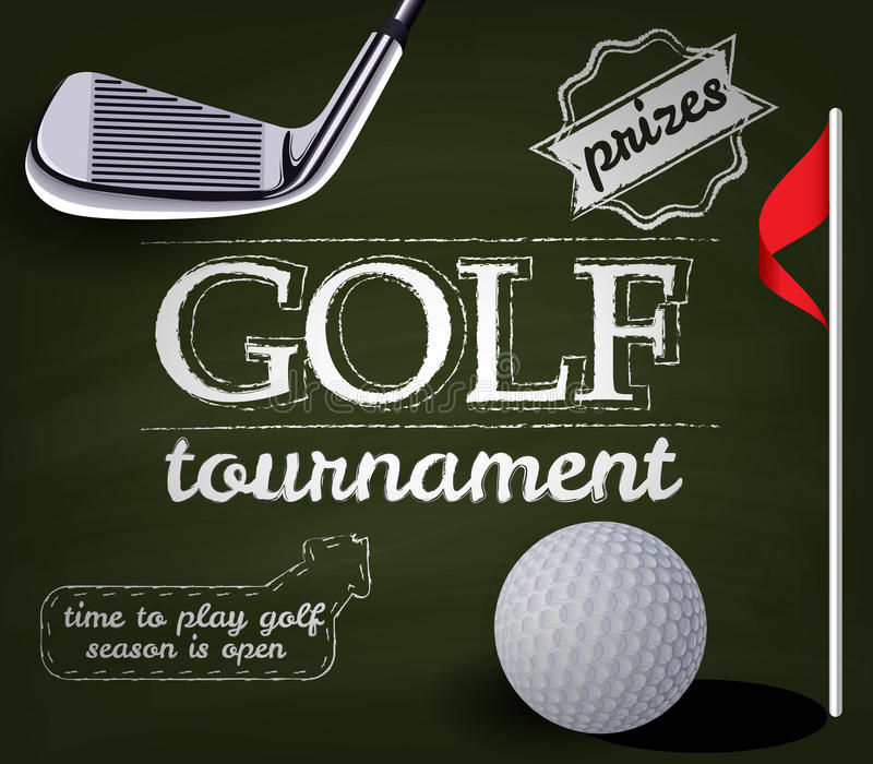 Cartel del torneo del golf stock de ilustración