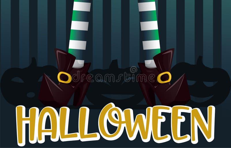 Cartel del vector del feliz Halloween libre illustration