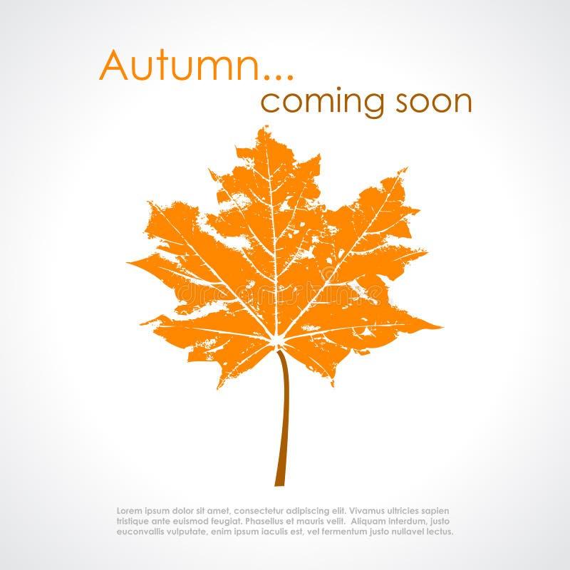 Cartel del vector del otoño stock de ilustración