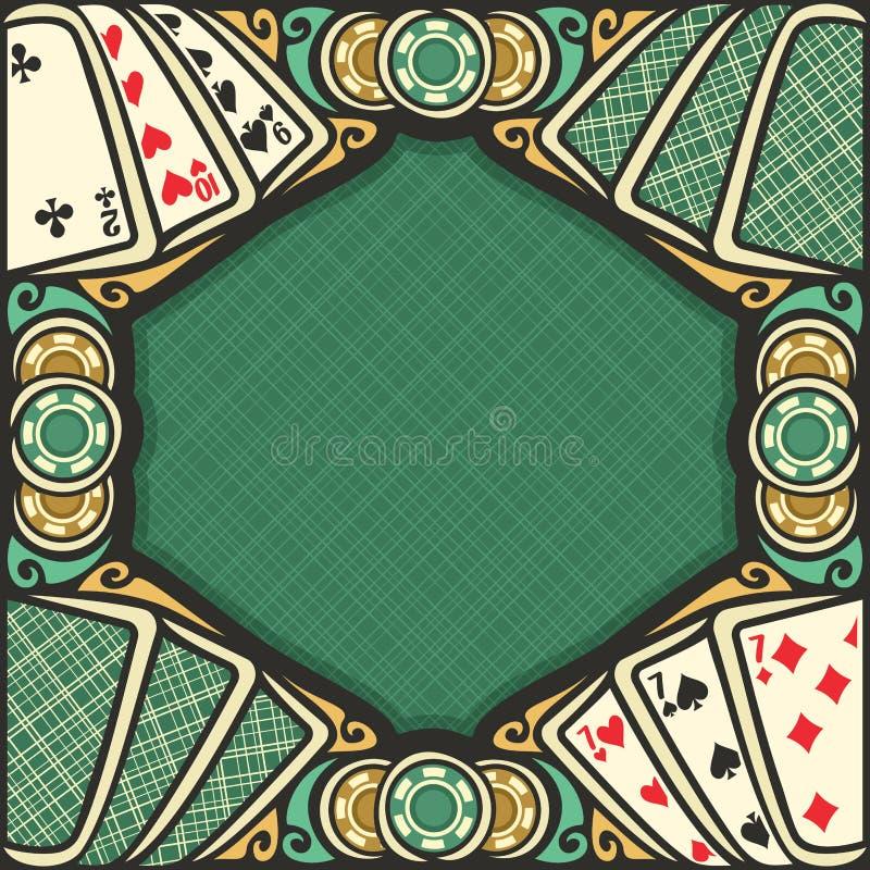 Cartel del vector para el juego de la veintiuna stock de ilustración
