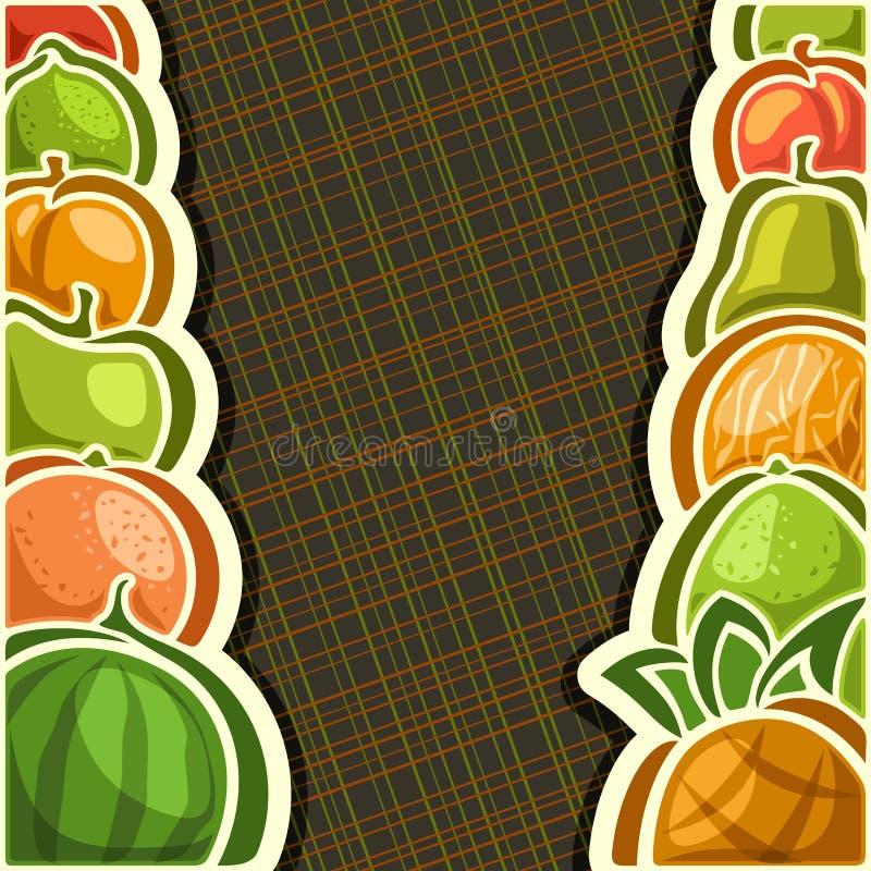 Cartel del vector para las frutas frescas del sistema stock de ilustración