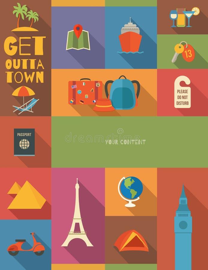 Cartel del viaje stock de ilustración