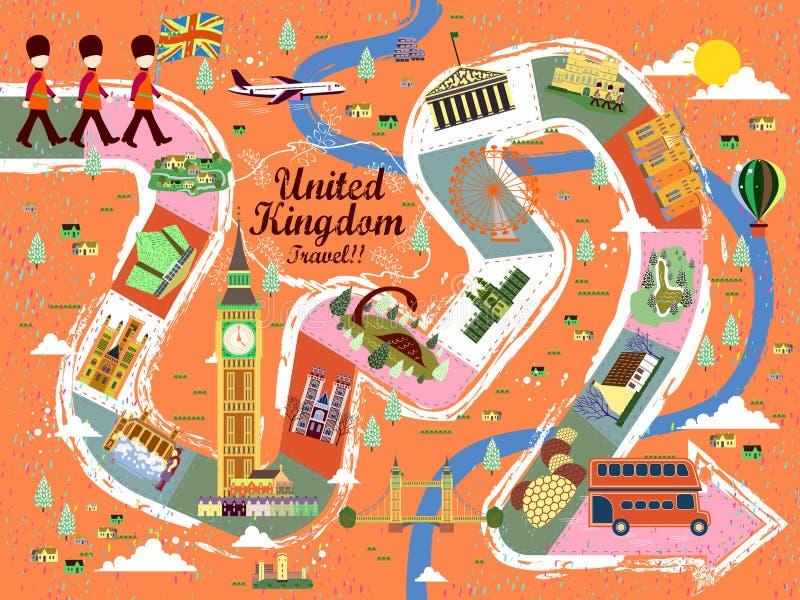 Cartel del viaje de Reino Unido stock de ilustración
