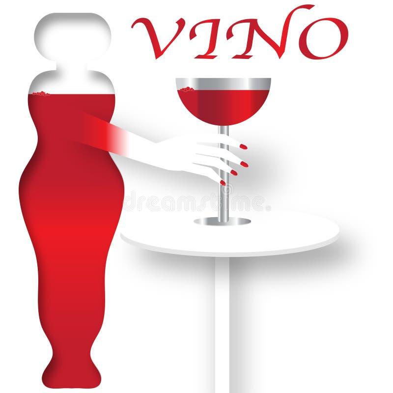 Cartel del vino ilustración del vector