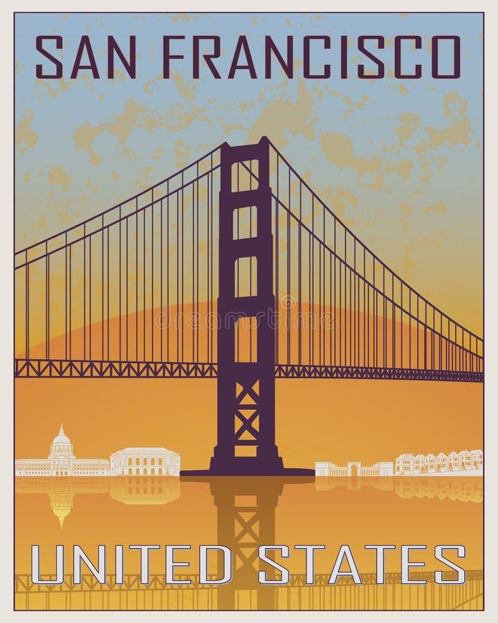 Cartel del vintage de San Francisco libre illustration