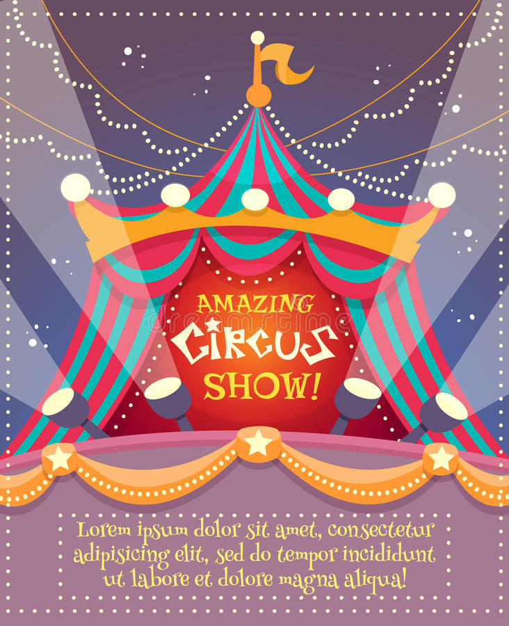 Cartel del vintage del circo libre illustration