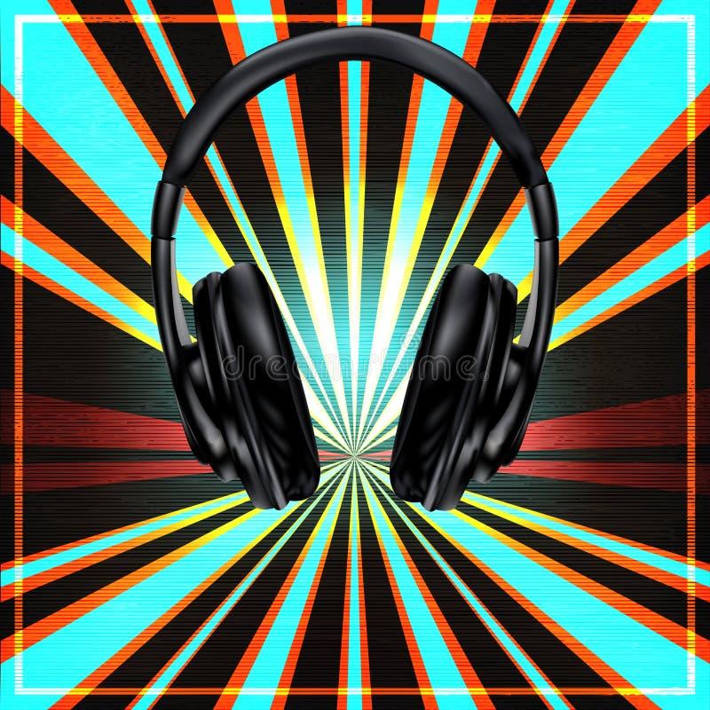 Cartel determinado de DJ ilustración del vector
