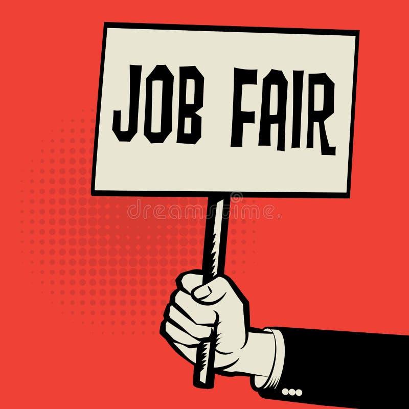Cartel a disposición, concepto del negocio con el texto Job Fair libre illustration