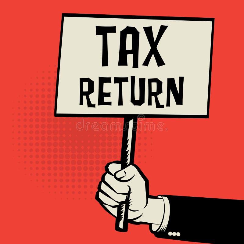 Cartel a disposición, concepto del negocio con la declaración de impuestos del texto libre illustration