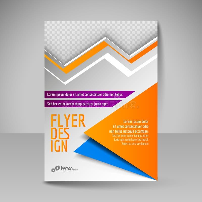 Cartel Editable A4 para el diseño, presentación, portada de revista megabus ilustración del vector