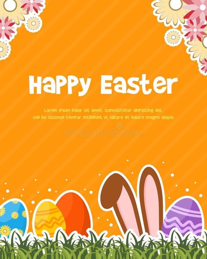 Cartel feliz de la celebración del día de pascua stock de ilustración