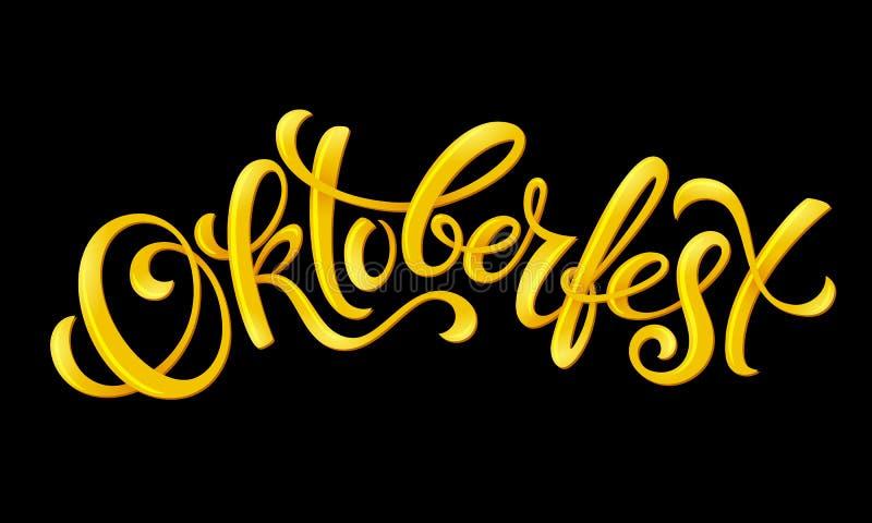 Cartel feliz de Oktoberfest stock de ilustración