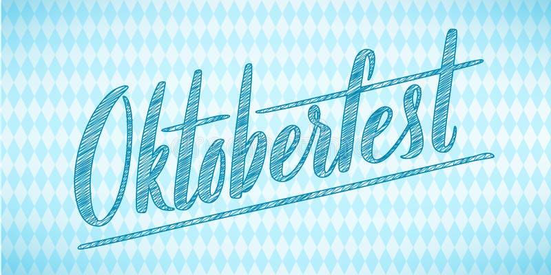 Cartel feliz de Oktoberfest Icono de la insignia de la decoración del festival de la cerveza ilustración del vector