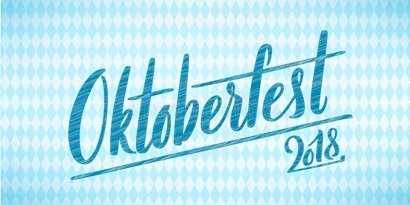 Cartel feliz de Oktoberfest Icono de la insignia de la decoración del festival de la cerveza libre illustration