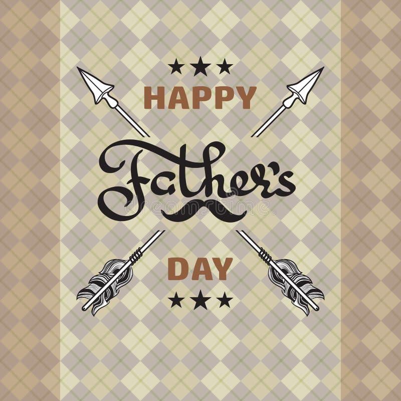 Cartel feliz del día de padres Ilustración del vector stock de ilustración