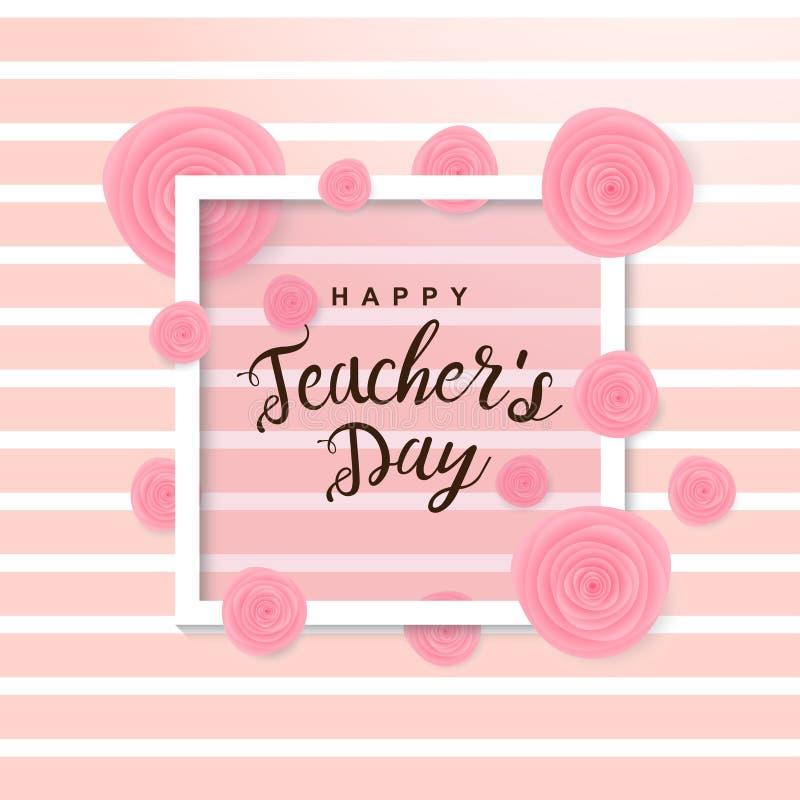Cartel feliz del día del ` s del profesor imágenes de archivo libres de regalías