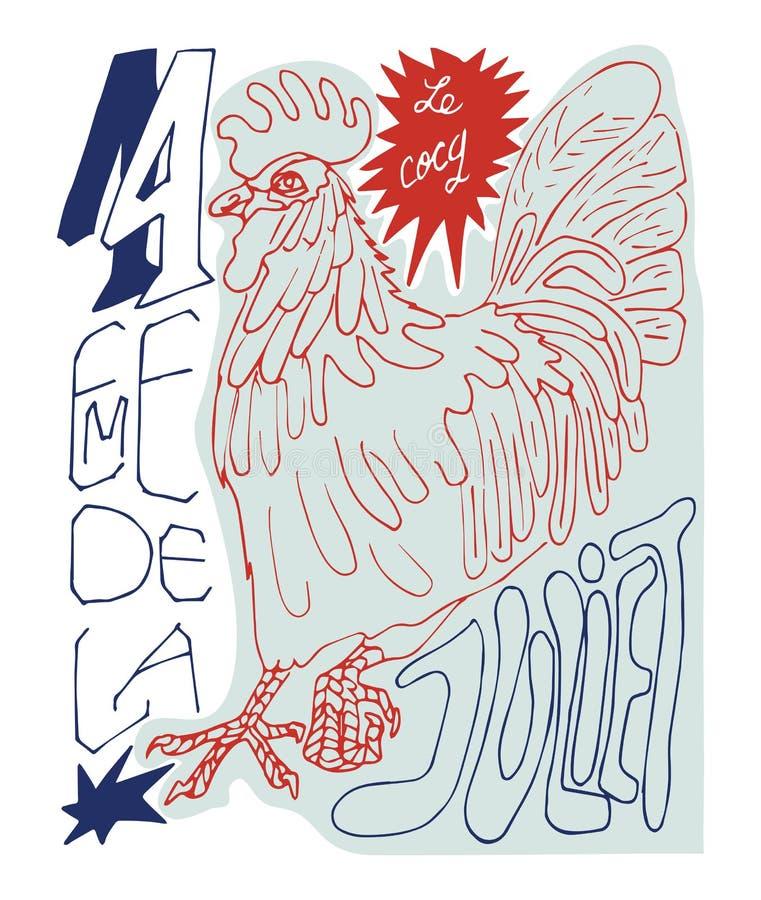 Download Cartel francés ilustración del vector. Ilustración de pájaro - 41902952