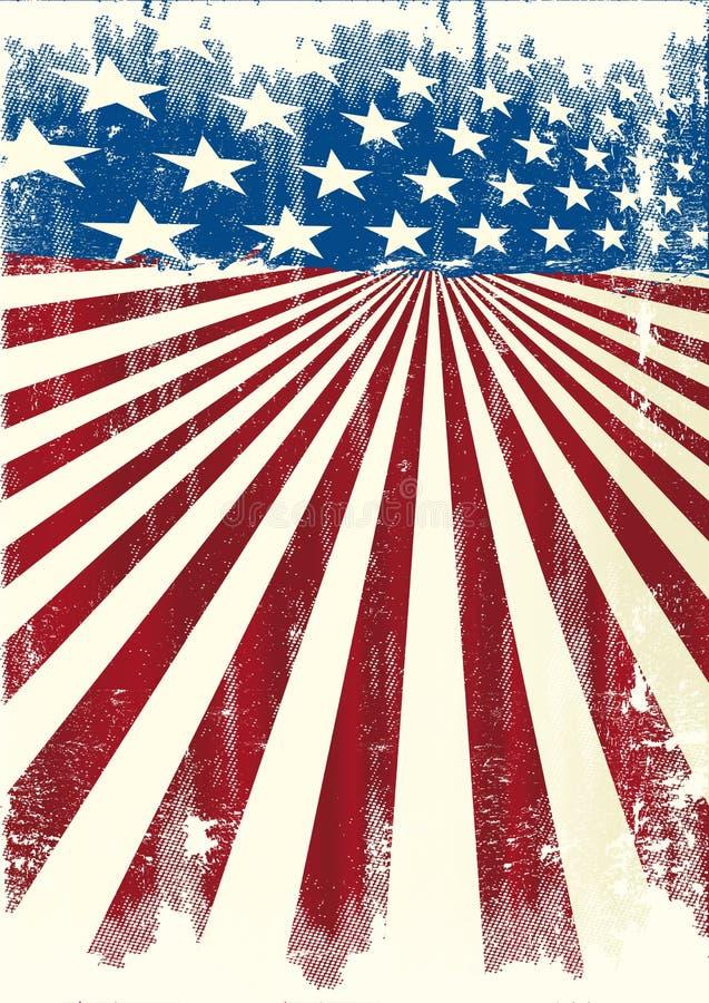 Cartel fresco americano stock de ilustración