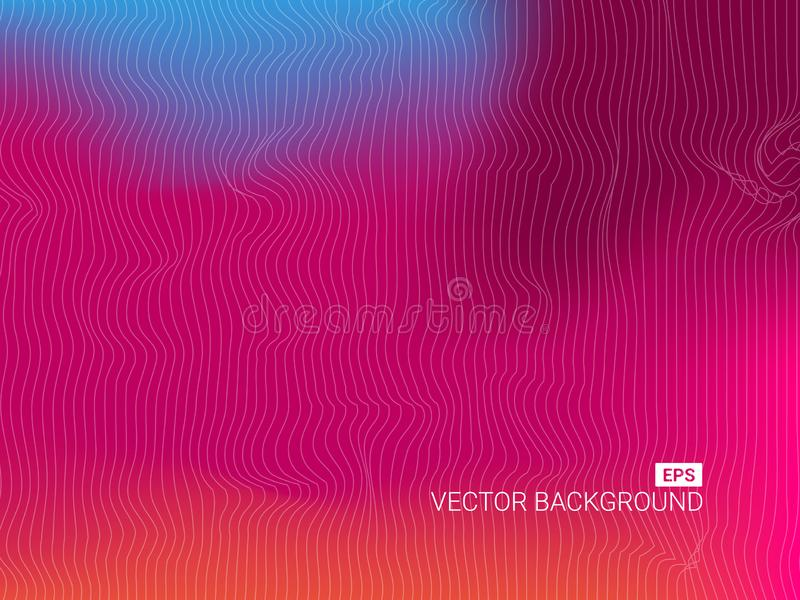 Cartel futurista flúido del diseño Diseño líquido del fondo del color stock de ilustración