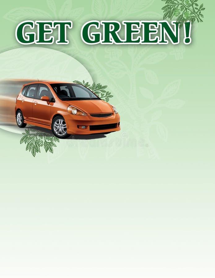 Cartel híbrido del coche libre illustration