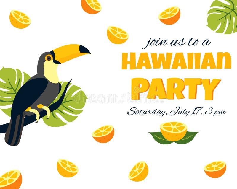 Tarjeta Hawaiana De La Invitación Ilustración Del Vector
