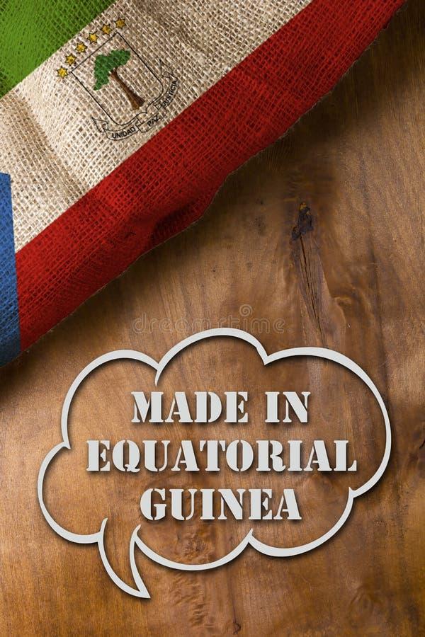 Cartel hecho en Guinea Ecuatorial foto de archivo libre de regalías