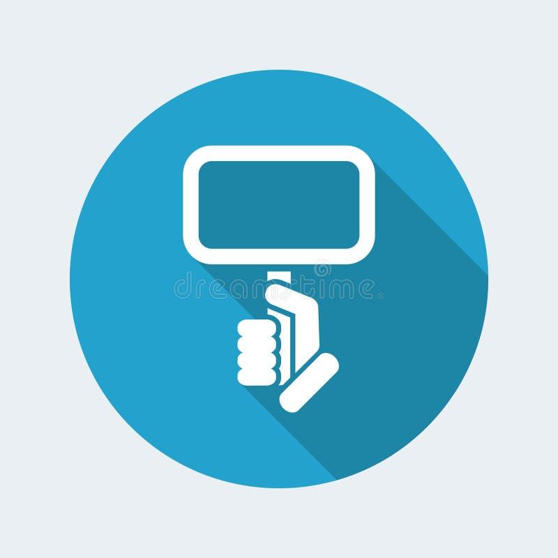 Cartel holding icon stock illustration