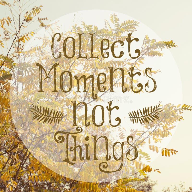 Cartel inspirado del diseño de la cita de la vida imagen de archivo