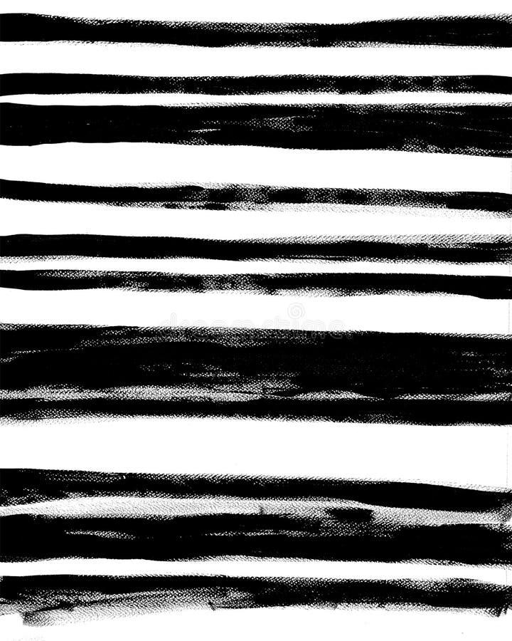 Cartel interior abstracto de moda Rayas exhaustas de la mano en el fondo blanco libre illustration