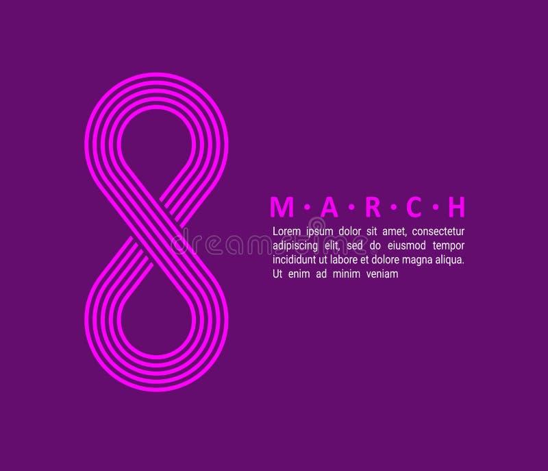 Cartel internacional 01 del día del ` s de las mujeres libre illustration