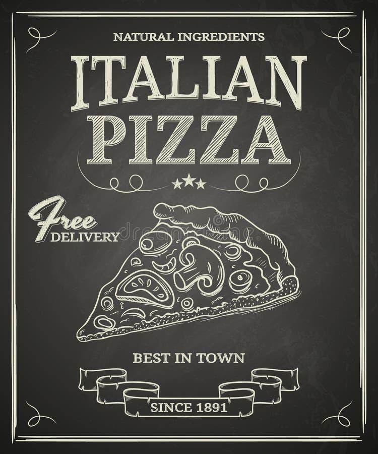 Cartel italiano de la pizza ilustración del vector