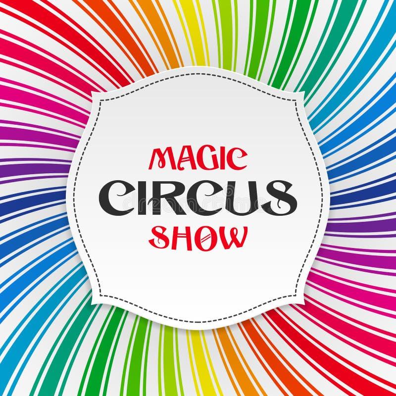 Cartel mágico de la demostración del circo, fondo stock de ilustración