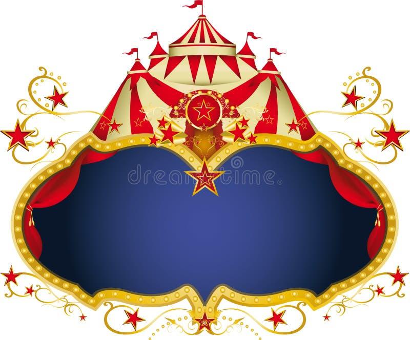 Cartel mágico del circo stock de ilustración