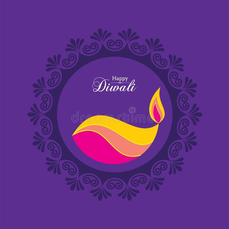 Cartel para Diwali feliz con el ejemplo del hermoso diseño stock de ilustración
