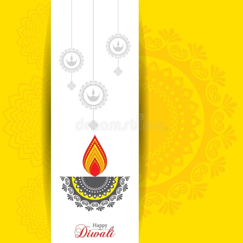 Cartel para Diwali feliz con el ejemplo del hermoso diseño libre illustration