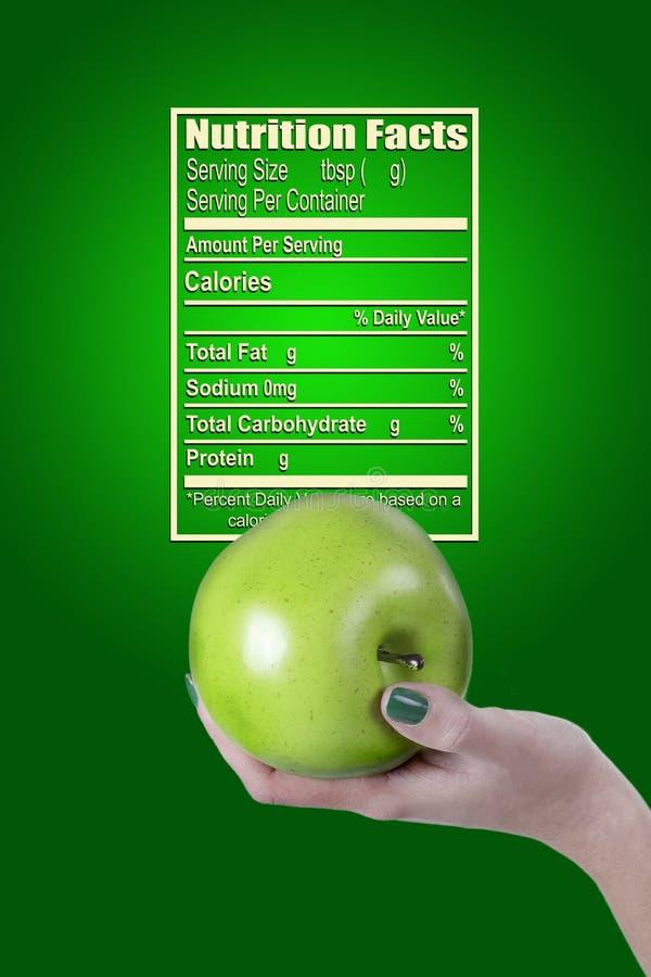 Cartel para el alimento biológico de los hechos de la nutrición libre illustration