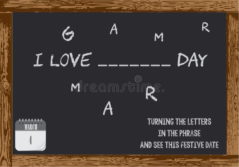 Cartel para el día de la gramática libre illustration