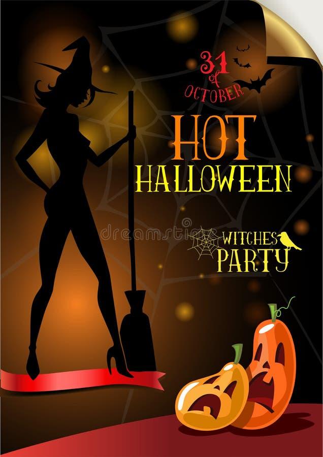 Cartel para el partido de Halloween stock de ilustración