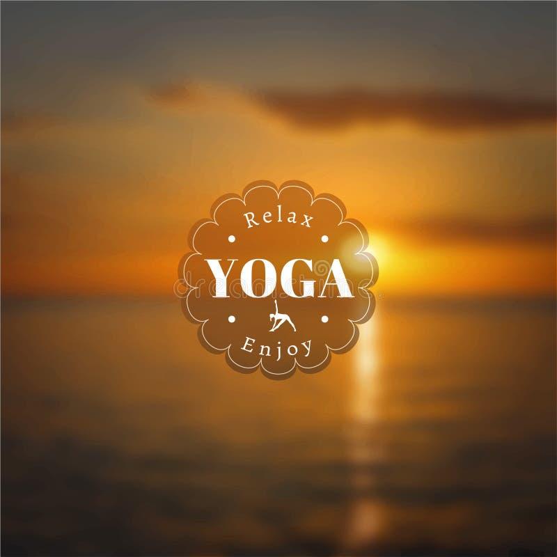Cartel para la clase de la yoga con una opinión del mar EPS, JPG libre illustration