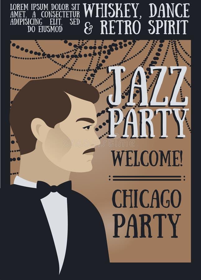 Cartel para la demostración del jazz libre illustration