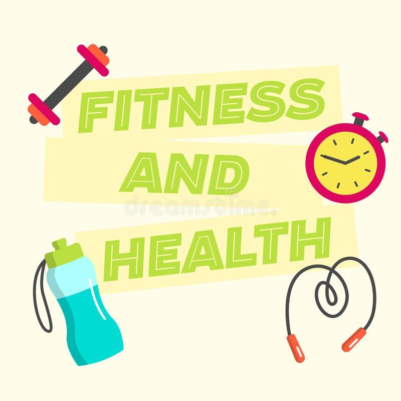 Cartel plano de la aptitud y de la salud libre illustration