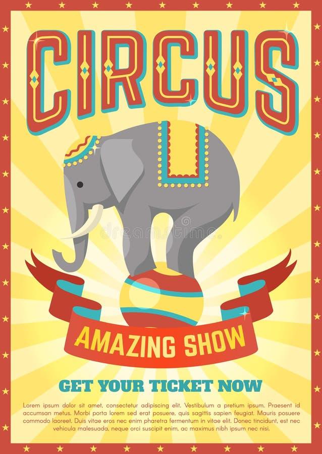 Cartel plano del circo ilustración del vector