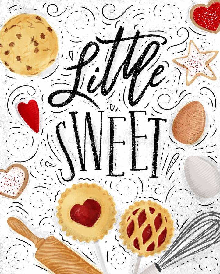 Cartel poco dulce stock de ilustración