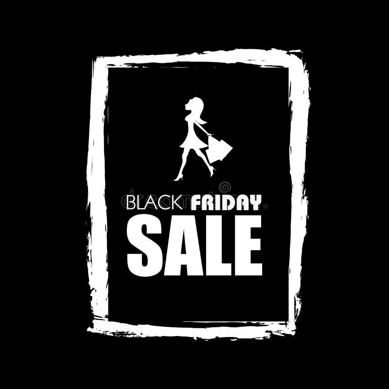 Cartel Promocional De La Venta Negra De Viernes Con El Fondo Del ...